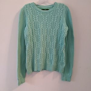 C. Wonder • Green Sweater w/ Elbow Patches Large